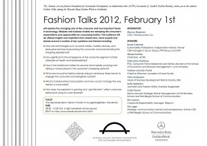 Invitation Fashion Talks 2012